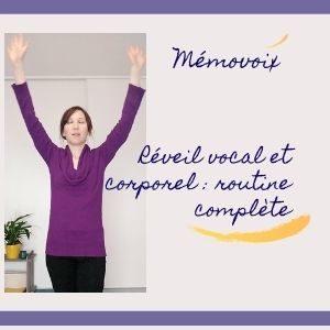 routine vocale corporelle